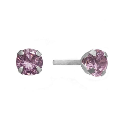 2 CT. T.W. Color-Enhanced Pink Diamond Stud Earrings