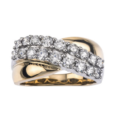 jcpenney.com | 1-1/5 CT. T.W. Diamond 14K Two-Tone Gold Wedding Band