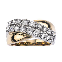 1-1/5 CT. T.W. Diamond 14K Two-Tone Gold Wedding Band
