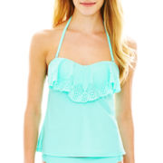 Arizona Laser-Cut Bandeaukini Swim Top - Juniors