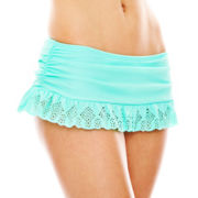 Arizona Laser-Cut Skirtini Swim Bottoms - Juniors