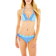 Arizona Diamond Print Halter Bra Swim Top or Hipster Bottoms - Juniors