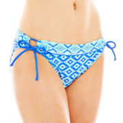 Arizona Diamond Print Keyhole Hipster Swim Bottoms - Juniors