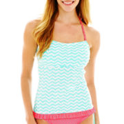 Arizona Chevron Print Corsetkini Swim Top - Juniors