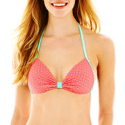 Arizona Pin Dot Pushup Bralette Swim Top - Juniors