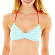 Arizona Chevron Print Strappy Bralette Swim Top - Juniors