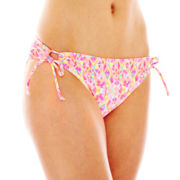 Arizona Mosaic Print Keyhole Hipster Swim Bottoms - Juniors