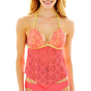 Arizona Crochet Pushup Halterkini Swim Top - Juniors