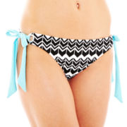 a.n.a® Zigzag Print Side-Tie Hipster Swim Bottoms