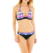 a.n.a® Ikat Print Halter Swim Top or Banded Hipster Bottoms