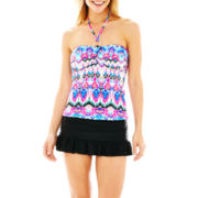 a.n.a® Ikat Print Bandini Swim Top or Solid Skirted Bottoms