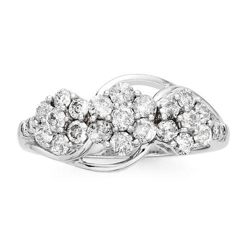 diamond blossom 1 CT. T.W. Diamond 3-blossom Ring