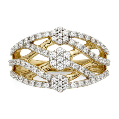 jcpenney.com | diamond blossom 1/2 CT. T.W. Diamond Criss-Cross Ring