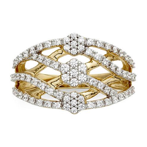 diamond blossom 1/2 CT. T.W. Diamond Criss-Cross Ring