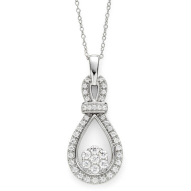 jcpenney.com | diamond blossom 1/2 CT. T.W. Diamond Loop Pendant Necklace