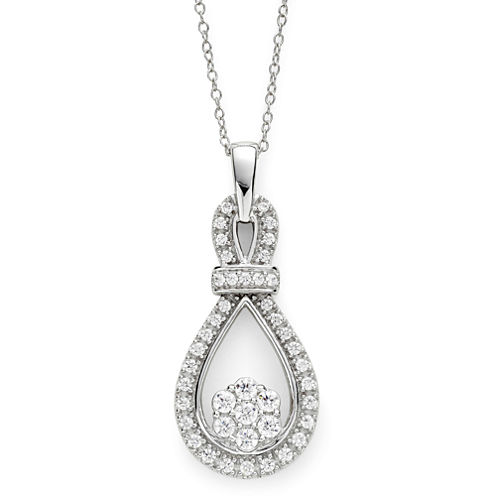diamond blossom 1/2 CT. T.W. Diamond Loop Pendant Necklace