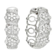 diamond blossom 1 CT. T.W. Diamond Milgrain Hoop Earrings