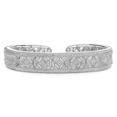 jcpenney.com | Vintage Inspirations™ 1/4 CT. T.W. Diamond Cutout Bangle