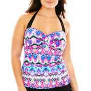 a.n.a® Ikat Print Twist Bandeaukini Swim Top - Plus