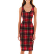 XOXO® Sleeveless Plaid Sheath Dress