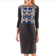nicole by Nicole Miller® Print Crop Top or Faux Leather-Trim Zipper Pencil Skirt
