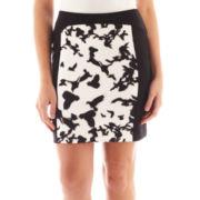 nicole by Nicole Miller® Scuba Print Pencil Skirt