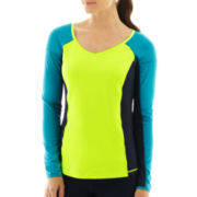 Xersion™ Long-Sleeve Performance Colorblock Top