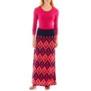 a.n.a® Long-Sleeve Crewneck Tee or Foldover Maxi Skirt
