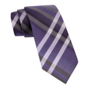 Van Heusen Plaid Tie w/ Tie Bar - Slim