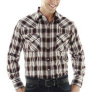 Ely Cattleman® Long-Sleeve Western Plaid Snap Shirt