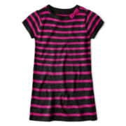 Okie Dokie® Short-Sleeve Pocket Sweater Dress - Girls 2t-6