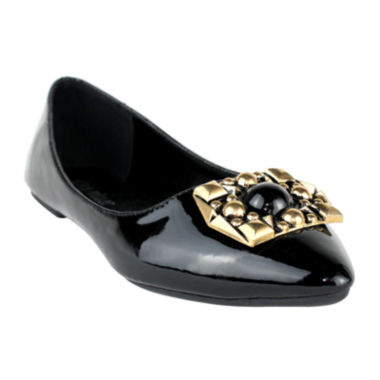jcpenney.com | Embellished Pointy-Toe Ballet Flats