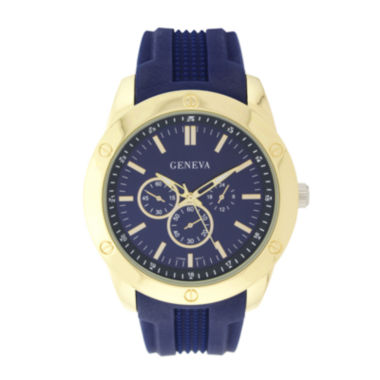 jcpenney.com | Geneva Mens Blue Silicone Strap Watch