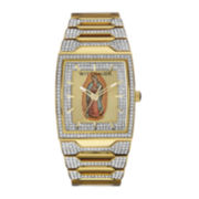 Wittnauer® Mens Crystal-Accent Our Lady of Guadalupe Dial Watch WN3039