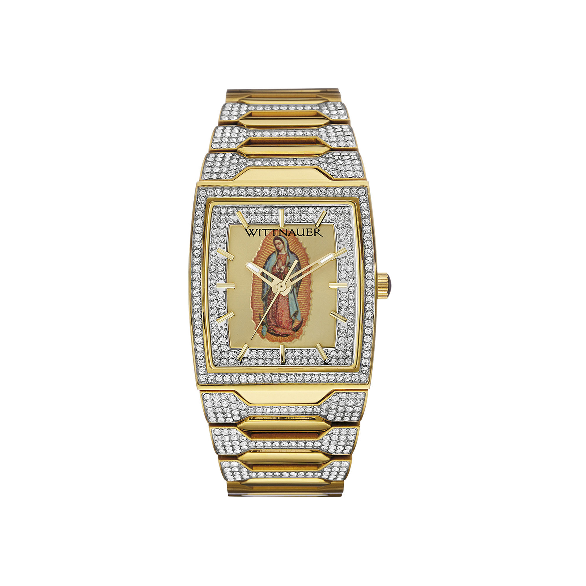 Wittnauer Mens Crystal-Accent Our Lady of Guadalupe Dial Watch WN3039