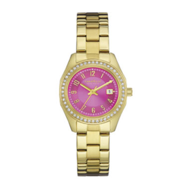 jcpenney.com | Caravelle New York® Womens Crystal-Accent Pink Dial Bracelet Watch 44M107