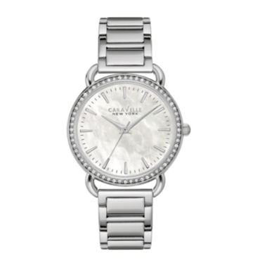 jcpenney.com | Caravelle New York® Womens Crystal-Accent Stainless Steel Bracelet Watch 43L184