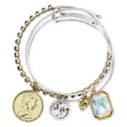 Messages from the Heart® by Sandra Magsamen® 3-pc. Coin Bangle Bracelet Set