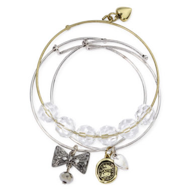 jcpenney.com | Messages from the Heart® by Sandra Magsamen® 3-pc. Bangle Bracelet Set