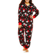 Disney Minnie Mouse Long-Sleeve One-Piece Hooded Pajamas - Plus