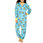 Minions Long-Sleeve One-Piece Hooded Pajamas - Plus