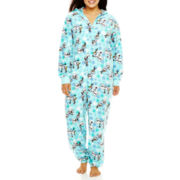 Disney Olaf Long-Sleeve One-Piece Hooded Pajamas - Plus