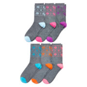Womens 6-pk. Giftable Crew Socks