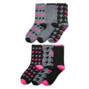Womens 6-pk. Giftable Crew Socks