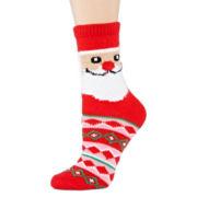 Womens Ugly Sweater Santa Crew Socks