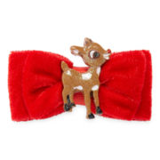 Rudolph the Reindeer Christmas Red Bow Hair Clip