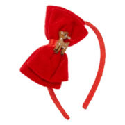 Reindeer Red Bow Christmas Costume Headband