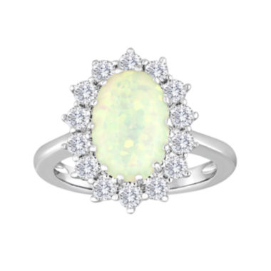 jcpenney.com | Lab-Created Opal and White Sapphire Ring