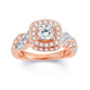 Modern Bride® Signature 1½ CT. T.W. Diamond 14K Two-Tone Gold Infinity Ring