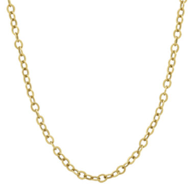 "jcpenney.com | Made in Italy 14K Yellow Gold 20"" Hollow Rolo Chain Necklace"